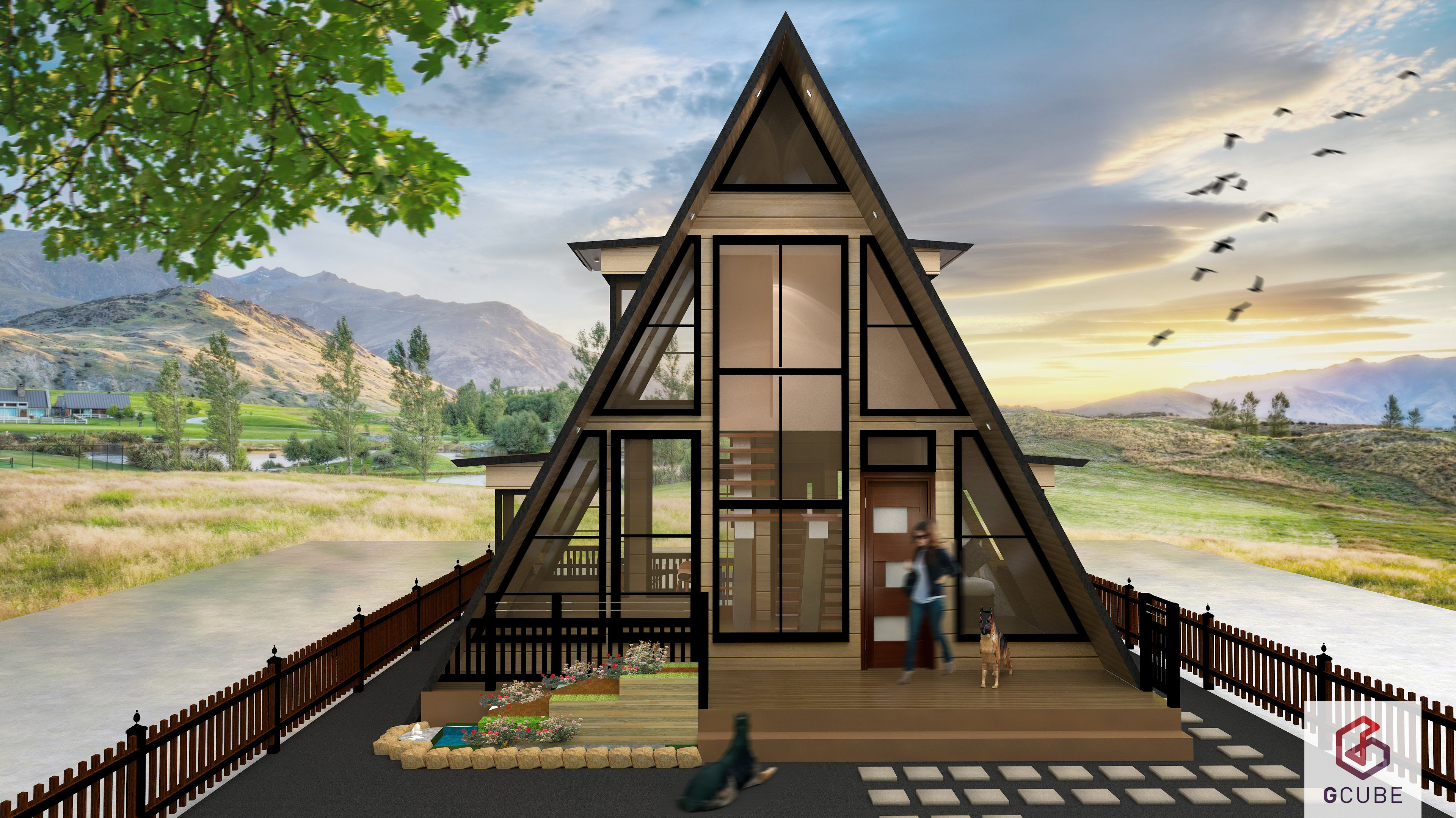 Small house design philippines resthouse and 4 person for A frame style house