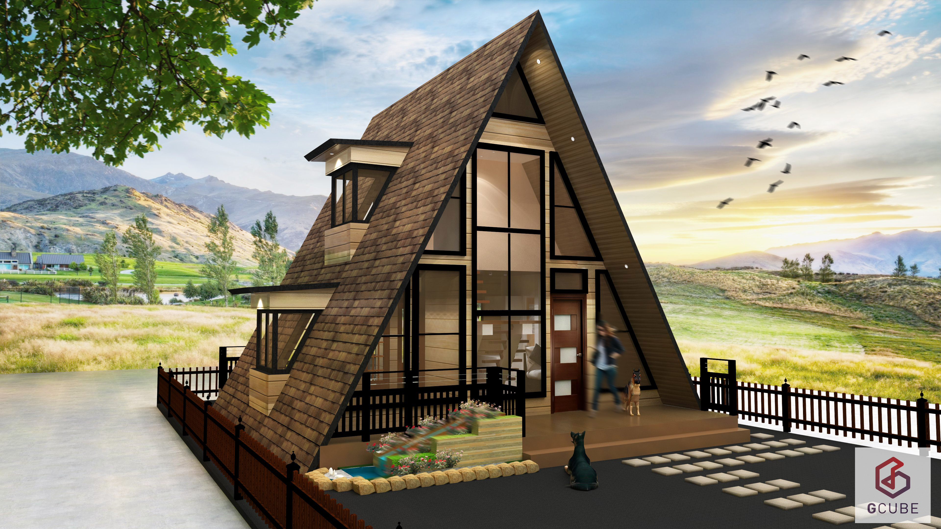 Small house design philippines resthouse and 4 person for Pocket garden designs philippines